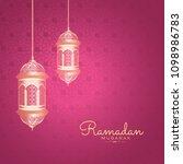 ramadan kareem islamic greeting ... | Shutterstock .eps vector #1098986783