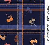 a dark seamless pattern spring... | Shutterstock .eps vector #1098993698