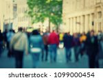 abstract people crowd... | Shutterstock . vector #1099000454