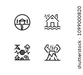 natural disaster icon set. eps... | Shutterstock .eps vector #1099000820