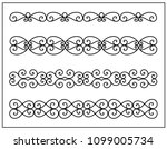this is set of a metal forged... | Shutterstock .eps vector #1099005734