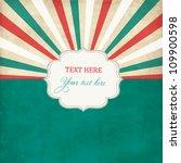 vintage scrap template with... | Shutterstock .eps vector #109900598