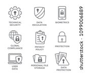 Gdpr   Privacy Policy Icon Set...