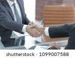 handshake of business partners... | Shutterstock . vector #1099007588