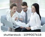 business team working with... | Shutterstock . vector #1099007618