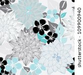 abstract flower seamless... | Shutterstock .eps vector #109900940