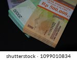 indonesian rupiah banknote as... | Shutterstock . vector #1099010834