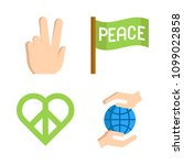 icons peace with peace and... | Shutterstock .eps vector #1099022858