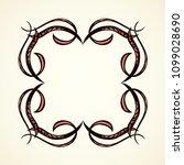 old cute romantic book ribbon... | Shutterstock .eps vector #1099028690