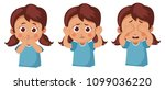 girl does not see  does not... | Shutterstock .eps vector #1099036220