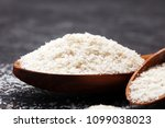 Portion of psyllium seeds on...