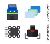 icons virtual reality with... | Shutterstock .eps vector #1099042994