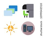 icons virtual reality with... | Shutterstock .eps vector #1099043510