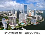 aerial view of miami skyline ... | Shutterstock . vector #109904483