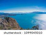 general carrera lake  carretera ... | Shutterstock . vector #1099045010