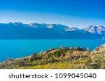 general carrera lake  carretera ... | Shutterstock . vector #1099045040