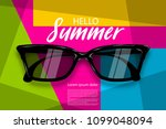 hello summer time. vector pop... | Shutterstock .eps vector #1099048094