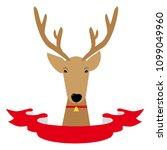 illustration of deer. reindeer. ... | Shutterstock .eps vector #1099049960
