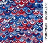 festive american flag ribbons... | Shutterstock .eps vector #1099052570