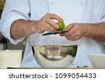 Chef\'s Hands Zesting A Lime ...
