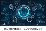 hud. icon with hud. futuristic... | Shutterstock .eps vector #1099058279