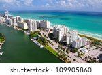 aerial view of miami south... | Shutterstock . vector #109905860
