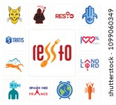 set of 13 simple editable icons ...   Shutterstock .eps vector #1099060349