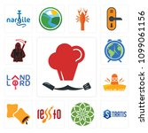 set of 13 simple editable icons ...   Shutterstock .eps vector #1099061156