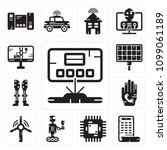 set of 13 simple editable icons ... | Shutterstock .eps vector #1099061189