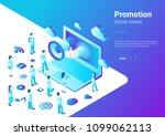isometric flat loudspeaker... | Shutterstock .eps vector #1099062113