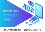 online education isometric flat ... | Shutterstock .eps vector #1099062146