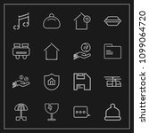 modern  simple vector icon set... | Shutterstock .eps vector #1099064720