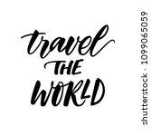 travel the world. motivational...   Shutterstock .eps vector #1099065059