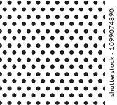 black polka dots on white...   Shutterstock .eps vector #1099074890