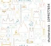 travel world landmarks seamless ... | Shutterstock .eps vector #1099077854