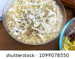cabbage salad in glass bowl | Shutterstock . vector #1099078550