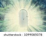 mystic door in a dreamy... | Shutterstock . vector #1099085078