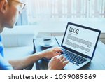 blog  blogger writing new... | Shutterstock . vector #1099089869