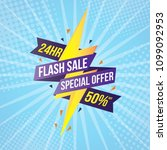flash sale banner template... | Shutterstock .eps vector #1099092953