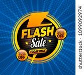 flash sale banner template... | Shutterstock .eps vector #1099092974