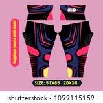 leggings pants for gym vector... | Shutterstock .eps vector #1099115159