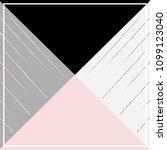 triangle shape scarf design  | Shutterstock .eps vector #1099123040