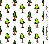 trees seamless pattern vector... | Shutterstock .eps vector #1099127498
