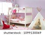 interior of children room with... | Shutterstock . vector #1099130069