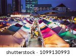 blur image of night market in... | Shutterstock . vector #1099130993