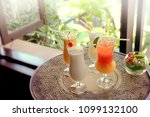 welcome drinks in summer for... | Shutterstock . vector #1099132100