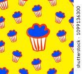 cupcakes seamless pattern... | Shutterstock .eps vector #1099136300