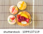 close up danish with choux... | Shutterstock . vector #1099137119