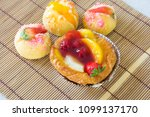 close up danish with choux... | Shutterstock . vector #1099137170