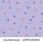 seamless flower fashion vector...   Shutterstock .eps vector #1099140404